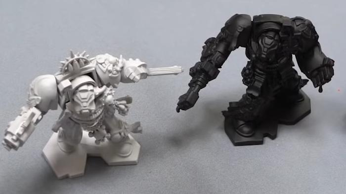 Prime Your Miniature in Black or Dark Grey