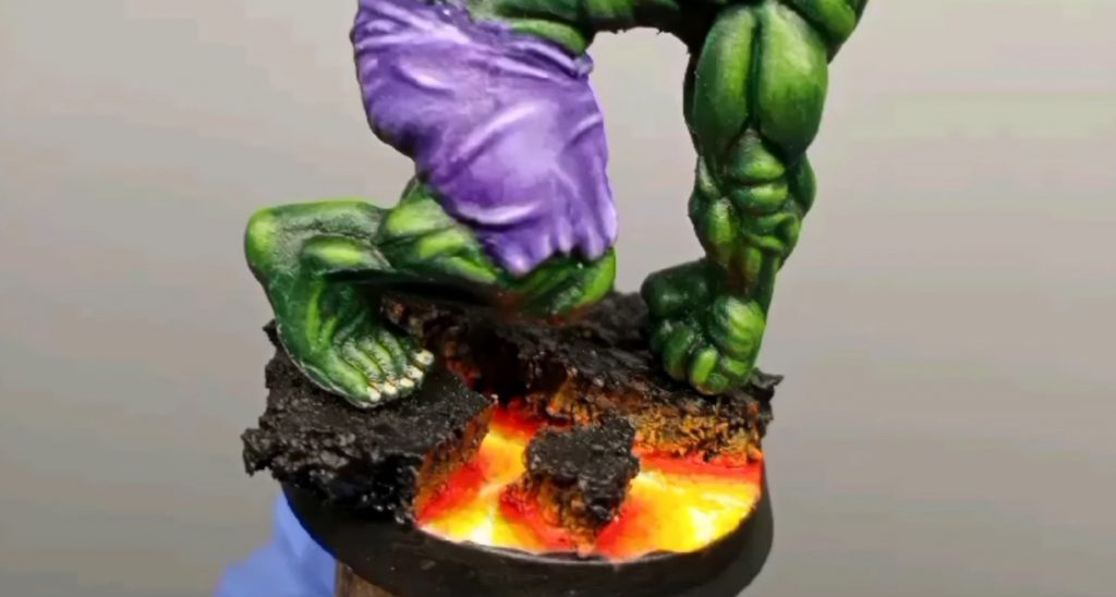 How to Paint Lava Bases