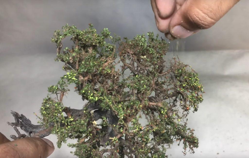 Step 10: Apply Coarse Turf to Create Leaves