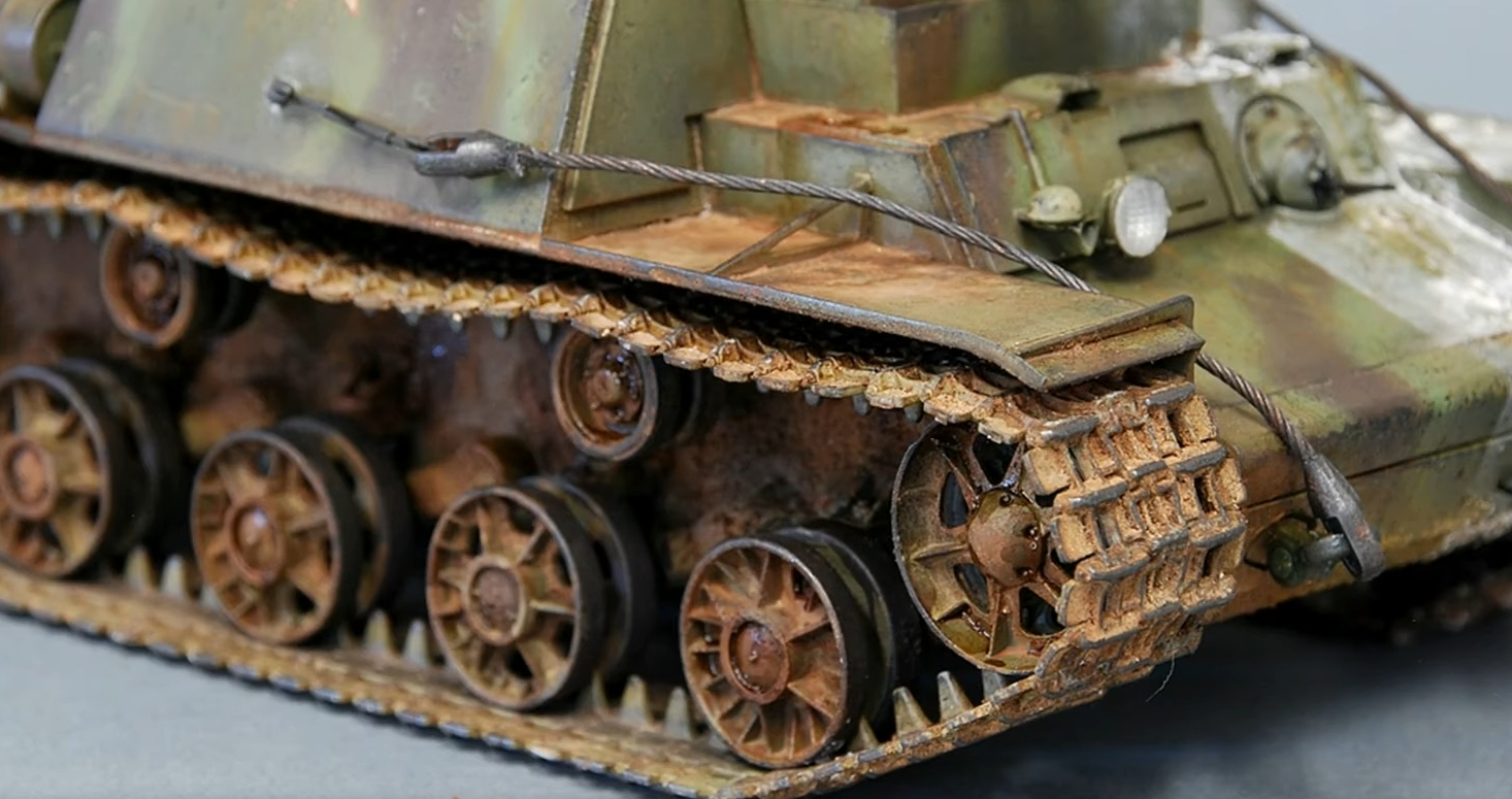 How to Paint and Weather Tank Tracks