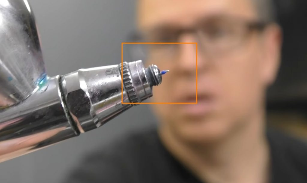 Keep the Needle On the Airbrush Clean
